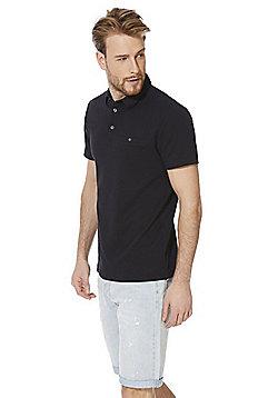 F&F Signature Mercerised Cotton Polo Shirt - Navy