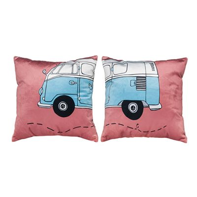 Camper Design Extra Soft Luxury Velvet Twin Cushion Sets of Two