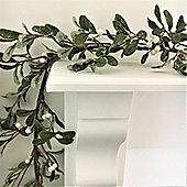 Frosted Mistletoe Christmas Garland