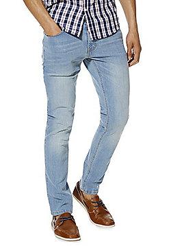 F&F Light Wash Stretch Slim Leg Jeans - Light wash