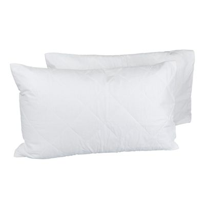 Homescapes Quilted Pillow Protector Pair, Standard Size