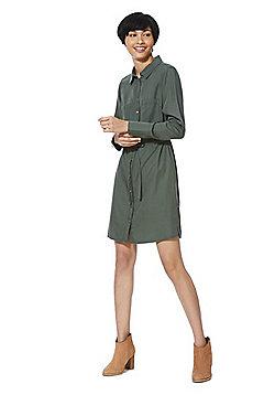 F&F Tencel® Shirt Dress - Khaki