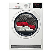 AEG T6DBG721N Condenser Tumble Dryer with 7Kg Drying Capacity and Delay Start Option in White
