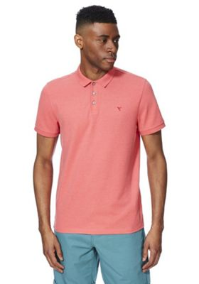 F&F Pique Polo Shirt Coral S