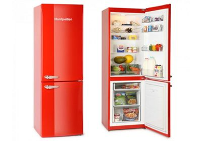 Montpellier MAB385R Red Retro Fridge Freezer