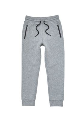 F&F Bonded Mesh Jersey Joggers Grey 10-11 years