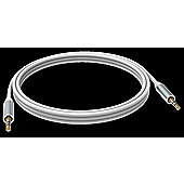 Vision 2 x 3.5mm 2m White audio cable