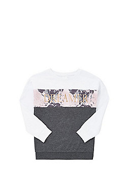 F&F Panel Dreamer Slogan Sweatshirt - Multi