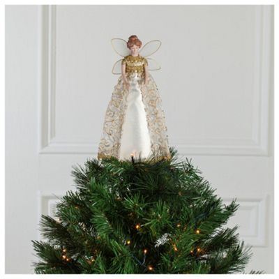 Tesco Gold Fairy Christmas Decoration