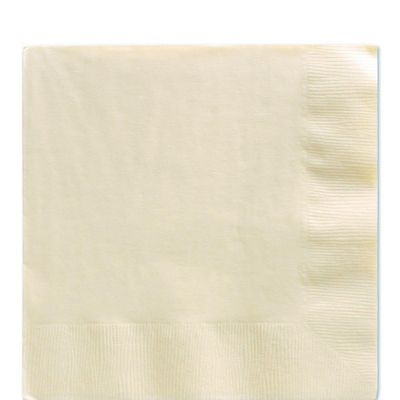 Ivory Luncheon Napkins - 2ply Paper - 50 Pack