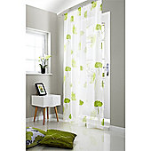 Alan Symonds Unlined Tuscany Slot Top Curtain Panel - Lime