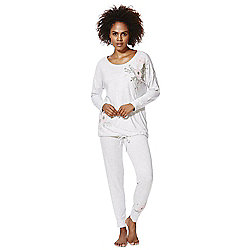 d1b9a1b8e0 F F Floral Embroidered Pyjamas 12-14 Grey marl