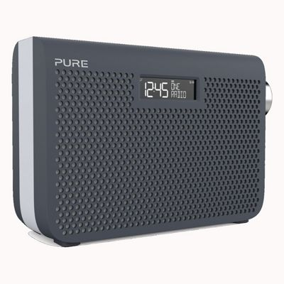 PURE-ONE-MIDI3S-BLUE Portable DAB/DAB+ and FM Radio with 20 Preset Stations in Slate Blue