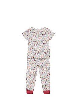 F&F Butterfly Print Pyjamas - White multi