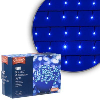 480 LED Blue Chaser Christmas Lights