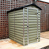 6 x 4 (1.83m x 1.22m) Sutton Plastic Apex Shed (6ft x 4ft)