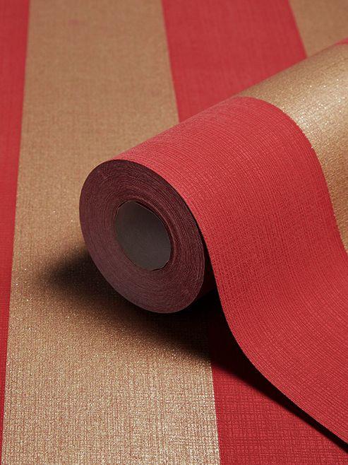 Teramo Stripe Wallpaper Regal Red Arthouse 952204