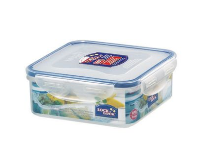 Lock & Lock 870ml Square Food Container (Set of 6)