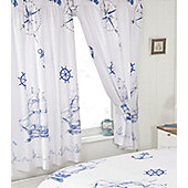Ships and Anchors, Nautical Curtains 72s, Pencil Pleat