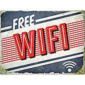 Free WiFi Retro Tin Sign 40.7x30.5cm