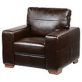 Abbott Leather Armchair - Chocolate Brown