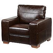 Abbott Leather Armchair, Chocolate Brown