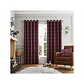 Curtina Cameron Purple Eyelet Curtains - 90x90 Inches (229x229cm)