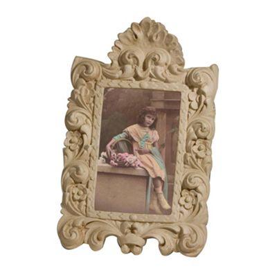 Cream Clay Paint Photo Frame