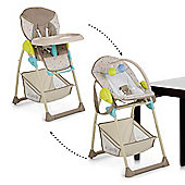 Hauck Sit'n Relax 2 in 1 High Chair and Bouncer - Multi Dots Sand