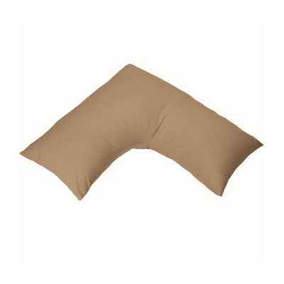 Homescapes Brown V Shaped Pillow Case Organic Cotton 400 Thread Count