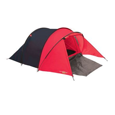 Yellowstone 3 Man Peak Dome Tent with Porch Red