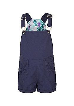 Mountain Warehouse Girls 100% Cotton Shore Dungarees w/ Adjustable Straps - Teal
