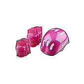 Riderz Girls Helmet & Pad set Pink