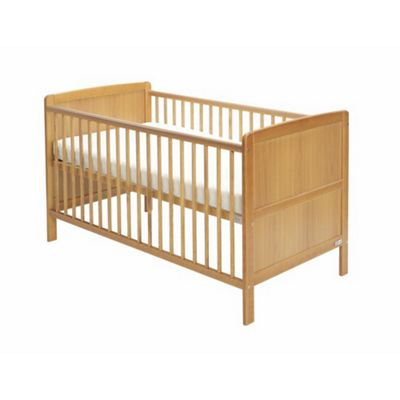 Baby Elegance Travis Cot Bed & Mattress - Pine