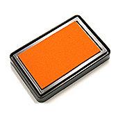 Large Orange Rubber Stamp Ink Pad (75mm x 45mm)