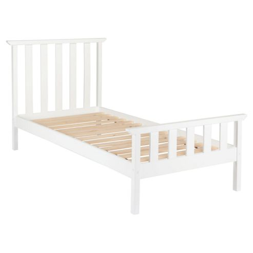Winton Single bed frame, White