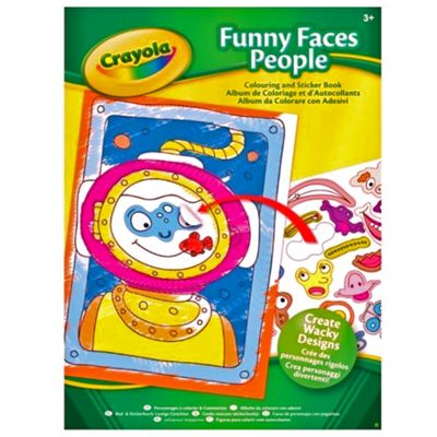 Crayola Funny Faces Colouring Book