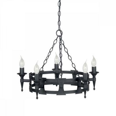 Black 5lt Chandelier - 5 x 60W E14