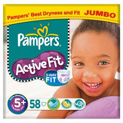 Pampers Active Fit Jumbo Junior Plus 58