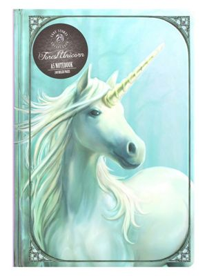 Anne Stokes Forest Unicorn A5 Hard Cover Notebook 15x21cm
