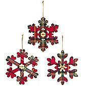 Tartan Snowflake Christmas Decoration