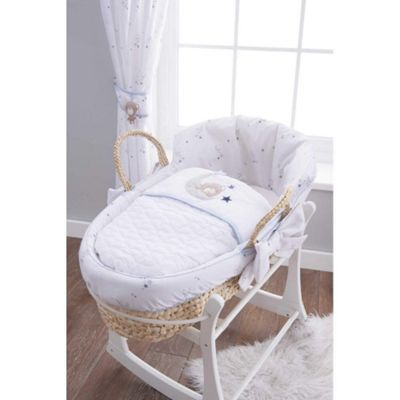 Silver Cloud Moses Basket (Little Star)