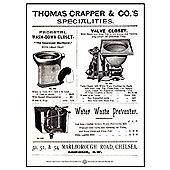 Thomas Crapper & Co Classic Closets Tin Sign