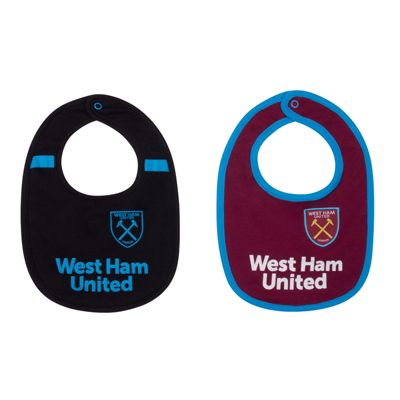 West Ham United FC Baby Bibs 2 Pack