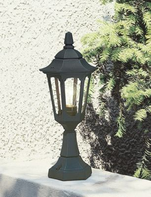 Elstead Lighting Parish Mini Pedestal Lantern - Black