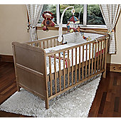 Isabella - Cot Bed/Toddler Bed W/ Sprung Mattress & Teething Rails - Pine