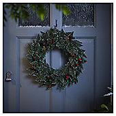 Berry and Pine Cone Traditional Christmas Wreath, 45cm