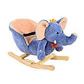 HOMCOM Kids Rocking Elephant Seat with Sound (Blue)