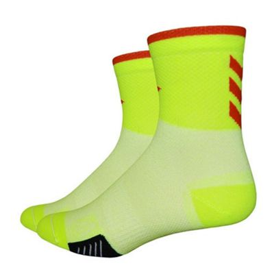 Defeet Cyclismo 3inch Sock Yellow/Red Size: L