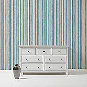 Superfresco Romany Stripe Teal Wallpaper
